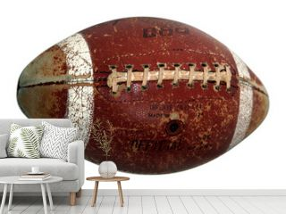 old american footbal ball isolated on white