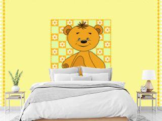 Baby seamless. Bears. Vector  illustration.