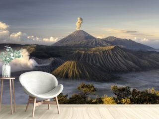 Mount Bromo volcano after eruption, Java, Indonesia
