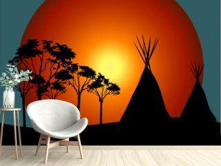 Indianer Tipi Zelt