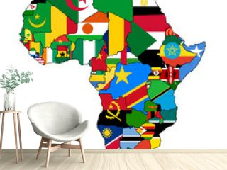 africa political map flags