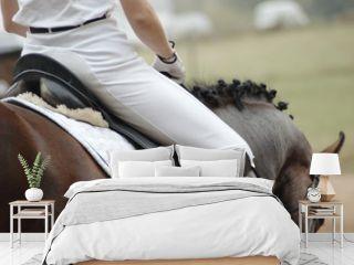 Woman on a horseback