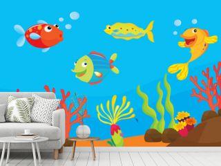 reef fish illustration