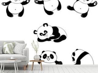 Illustration of panda in some posture
