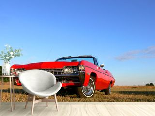 American Classic - Red 1970s Convertible