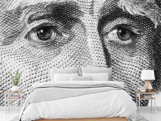 Hamilton's eyes on 10 bucks banknote