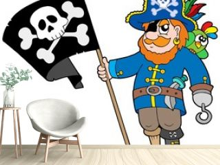 Pirate with flag
