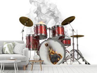 Burning drums