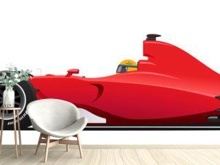 Formula race red detailed car