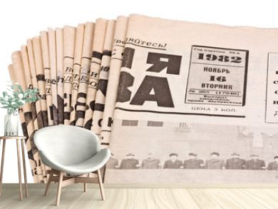 Old russian newspapers