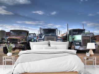 Three trucks on Junkyard