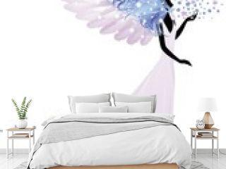 Angelo della Primavera-Springtime Angel-Vector
