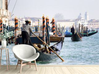 Gondola towards San Marco, Venice