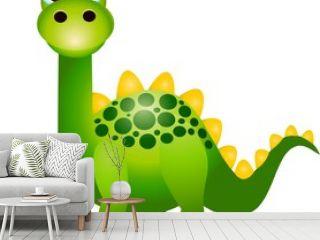 Cute green dinosaurs cartoon