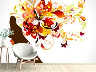 decorative composition with girl