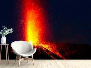 spectacular volcano eruption