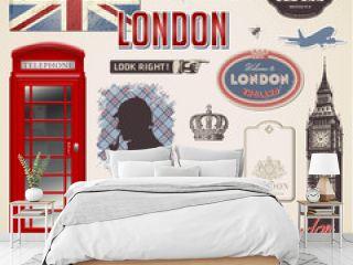 vector set: London design elements