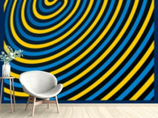 Optical Illusion Background. Three spiral patterns. Vector Illus