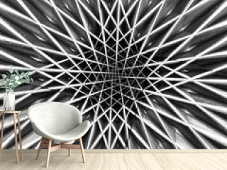 Abstract Metal Ornamental Star Structure 04