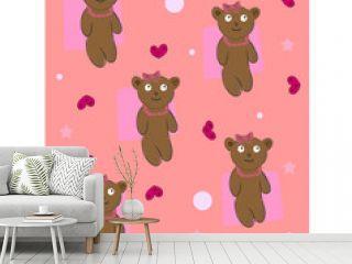 teddy bear background vector