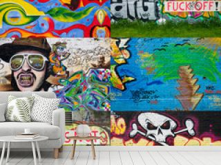 Berlin Graffiti Collage