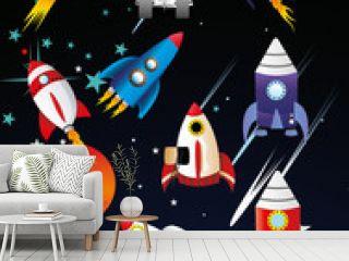 naves espaciales en vector