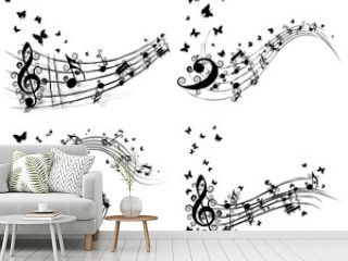 Set of musical background