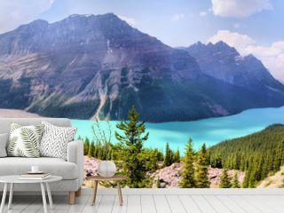 Panoramic view of Peyto Lake, Banff, Canada