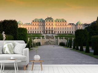 Baroque castle Belvedere in Vienna, Austria