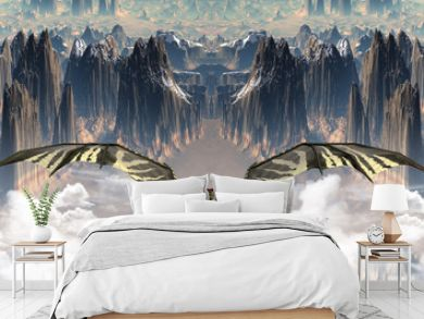 Fantasy Land With A Dragon