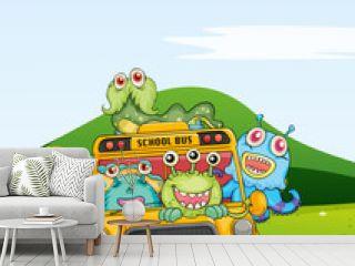 monsters in schoolbus