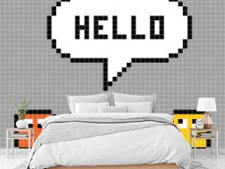 Pixel Characters Say Hello