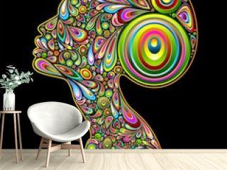 Woman Psychedelic Art Portrait