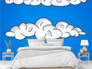 Cartoon Vector Clouds, blue sky