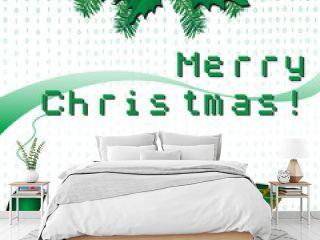 Merry Christmas in pixels