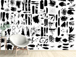 Brush strokes and Paint Splatters Vector set