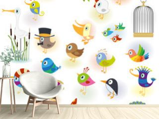 Big Cartoon Bird Set