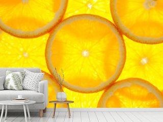 Orange slices background / macro / back lit