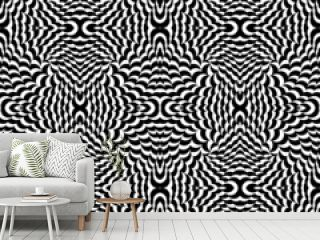 Optical effect background in black and white