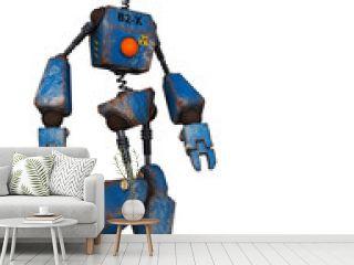 old robot  just walking