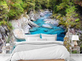 Blue Pools in Haast Highway, New Zealand