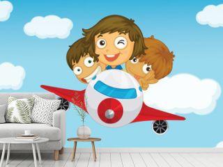 Kids on a plane