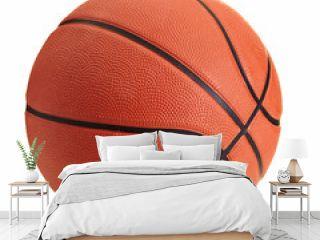 Basketball ball over white background