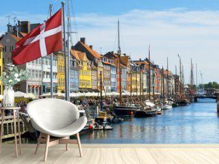 Historic canal of Nyhavn in Copenhagen, Denmark