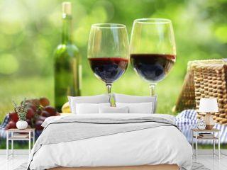Summer picnic setting