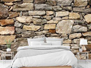 Medieval wall of stone blocks