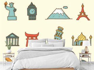 landmarks doodle icons