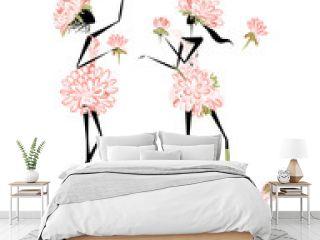 Floral girls for your design