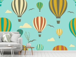 Seamless background from ballons.