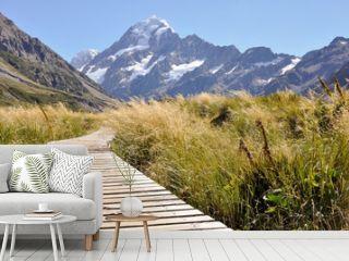 Boardwalk towards Mount Cook, New Zealand